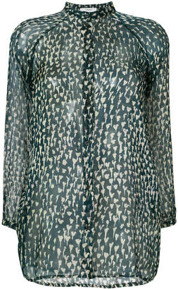 Humanoid sheer button up blouse