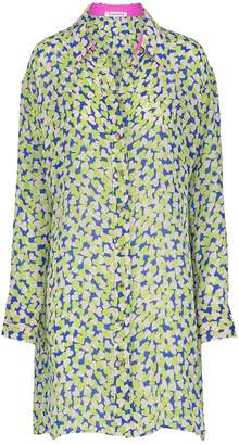 Libelula Laura Shirt Dress Blue & Yellow Hearty Print