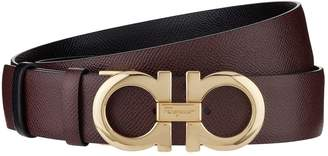 Salvatore Ferragamo Leather Gancini Belt
