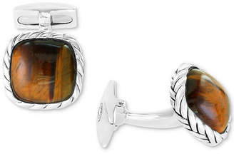 Effy Men's Black Agate Cuff Links in Sterling Silver (Also in Tiger's Eye)