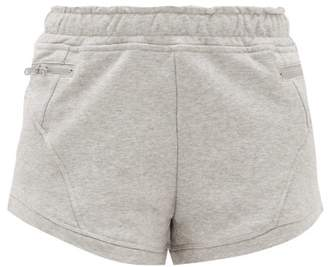 adidas by Stella McCartney Athletics Zipped Pocket Cotton Shorts - Womens - Grey