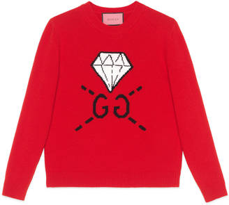 GucciGhost knit top $980 thestylecure.com