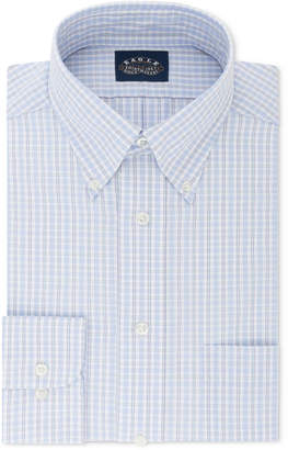 Eagle Men's Classic/Regular Fit Non-Iron Flex Collar Blue Multi Gingham Dress Shirt