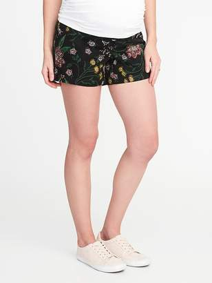 """Old Navy Maternity Side-Panel Printed Shorts (5"""")"""