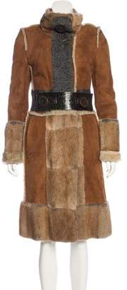 Dolce & Gabbana Suede & Fur Coat