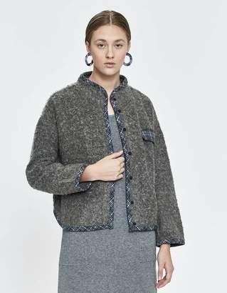Stelen Jeanne Plaid Pocket Fuzzy Jacket