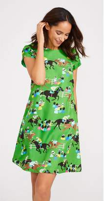 J.Mclaughlin Swing Cap Sleeve Silk Dress in Julep Gate