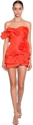 Ermanno Scervino Short Ruffled Silk Dress
