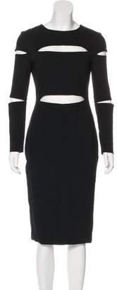 Cushnie et Ochs Cut-Out Accents Knee-Length Dress
