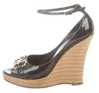 859e129a5017 Pre-Owned at TheRealReal · Gucci Patent Leather Horsebit-Accented Wedges