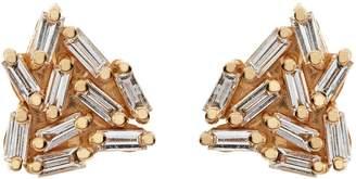 Suzanne Kalan Gold Diamond Firework Earrings