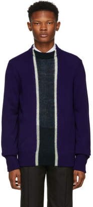 Namacheko Blue Wool Striped Crewneck Sweater