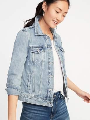 Old Navy Distressed Denim Jacket for Women
