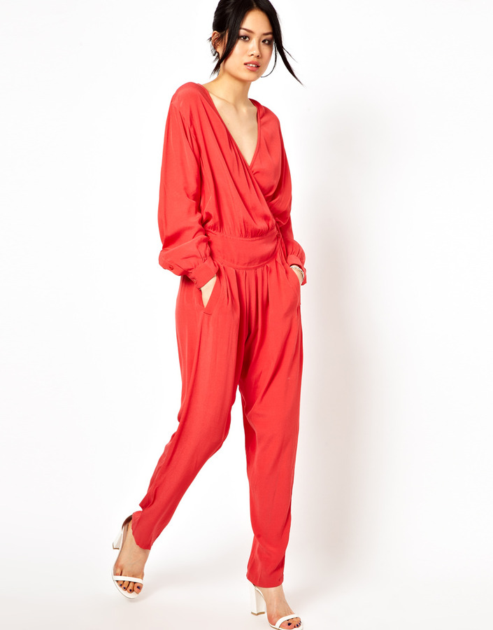IRO Boston Jumpsuit with Wrap Front
