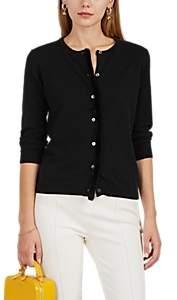 Women's Mink-Fur-Trimmed Cashmere Cardigan - Black
