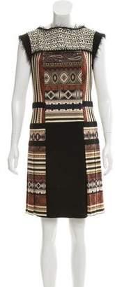 Etro Paneled Wool Dress