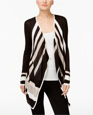 INC International Concepts Colorblocked Cascade Cardigan, Only at Macy's $69.50 thestylecure.com