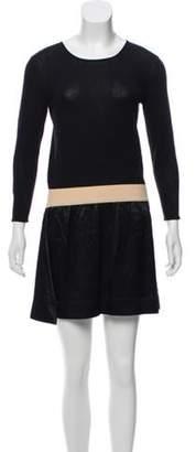 Band Of Outsiders Long Sleeve Mini Dress Black Long Sleeve Mini Dress