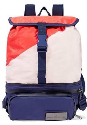 adidas by Stella McCartney Run Convertible Mesh-Paneled Color-Block Shell Backpack
