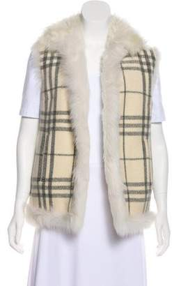 Burberry Wool & Shearling Vest