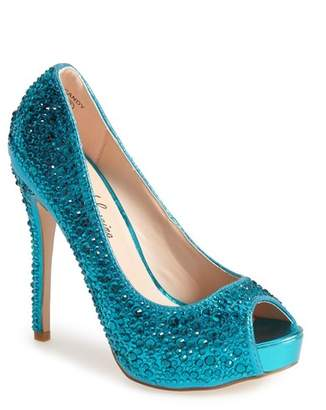 Ralph Lauren Lorraine 'Candy' Crystal Peep Toe Pump (Women)