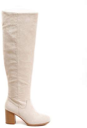 DOLCE by Mojo Moxy Womens Angie Over the Knee Boots Block Heel Pull-on