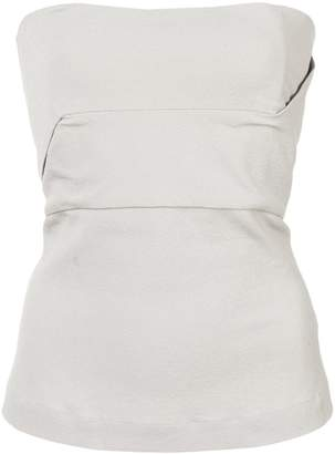 Rick Owens strapless fitted top