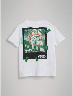 Burberry Polaroid Print Cotton T-shirt