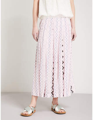 Missoni Chain-pattern woven midi skirt