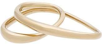 Charlotte Chesnais gold Heart two finger gold plated ring