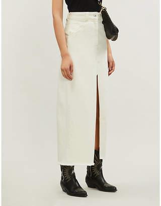 LES COYOTES DE PARIS Joy split front denim maxi skirt