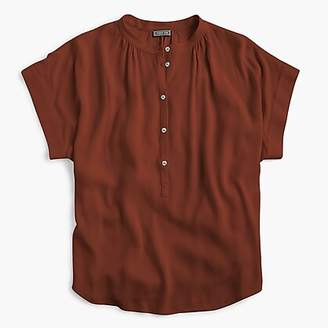 J.Crew Point Sur drapey popover shirt
