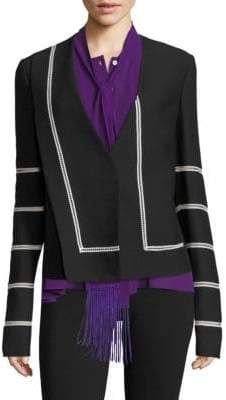 Derek Lam Collarless Lace Blazer