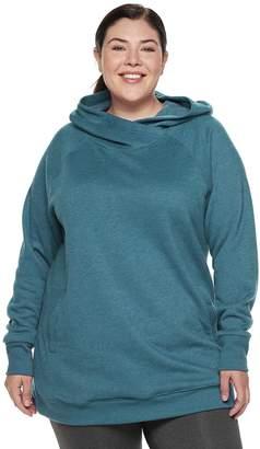 Tek Gear Plus Size Fleece Raglan Tunic Hoodie