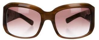 Oscar de la Renta Embellished Gradient Sunglasses