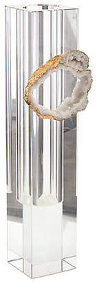 John-Richard Collection Phin Geode Vase - Clear/Gold