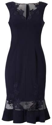 Aidan Mattox Cap Sleeve Short Dress