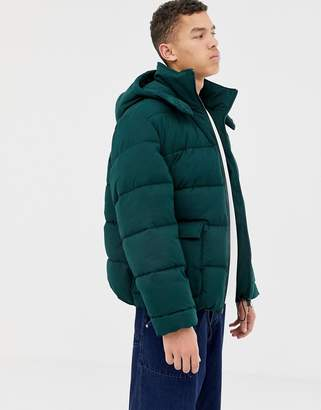 Asos oversized puffer jacket with hood