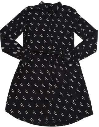 LES COYOTES DE PARIS LOGO PRINTED VISCOSE SHIRT DRESS