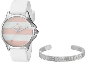 Juicy Couture Women's Quartz Stainless Steel and Silicone Casual Watch, Color:White (Model: 1950009) $165 thestylecure.com