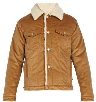 MAISON KITSUNÉ Trucker Faux Shearling Lined Corduroy Jacket - Mens - Camel