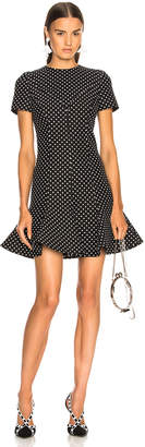 Valentino Flared Hem Polka Dot Mini Dress