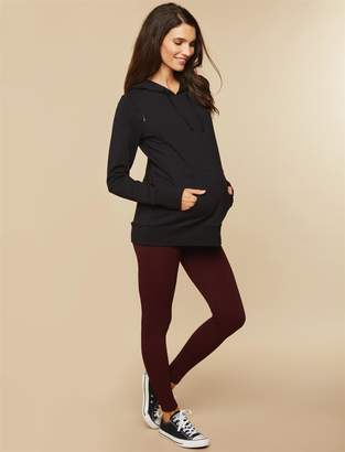 Motherhood Maternity Under Belly Fleece Lined Cable Knit Maternity Leggings