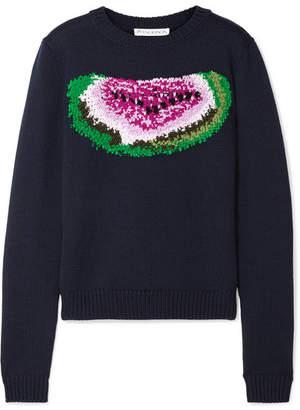 J.W.Anderson Watermelon Intarsia Wool Sweater - Black