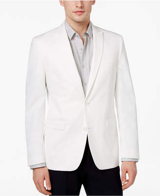 Bar III Men's Slim-Fit White Cotton Dinner Jacket, Only at Macy's $295 thestylecure.com