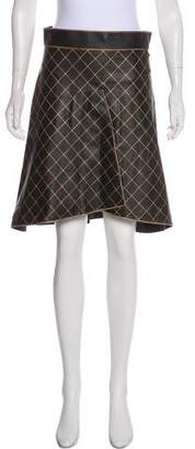 Chanel A-Line Leather Skirt w/ Tags