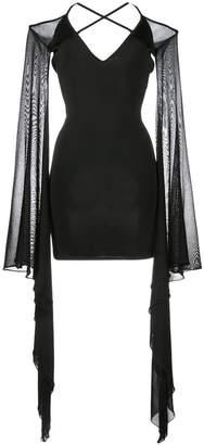Balmain ruffle sleeve mini dress
