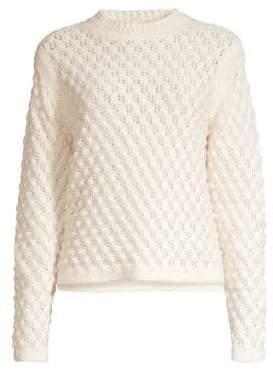 Rebecca Taylor Wool-Blend Popcorn Stitch Pullover Sweater