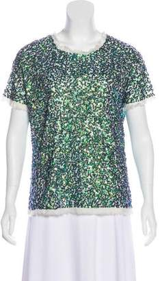 Gryphon Short Sleeve Sequined Top w/ Tags