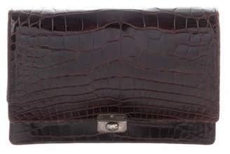 Ralph Lauren Glossed Crocodile Wallet